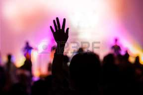 40931612-christian-music-concert-with-raised-hand